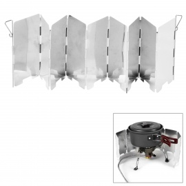 14*65cm Outdoor Camping Foldable Windscreen for Cookout - Silver