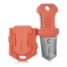 Outdoor Stainless Steel Mini Buckle Beetle Knife / Shiv - Orange