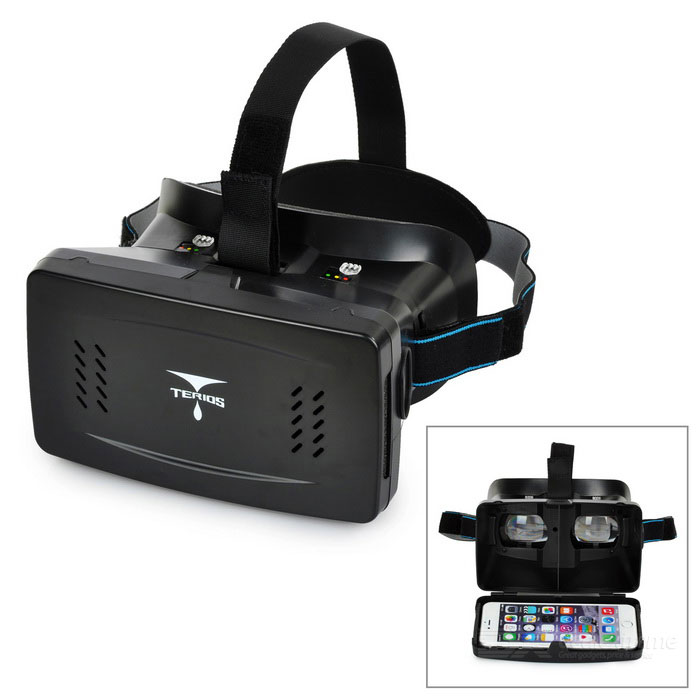 "TERIOS Virtual Reality VR 3D Glasses w/ Sucking Disk for 3.5~6.0"" Smart Phones - Black"