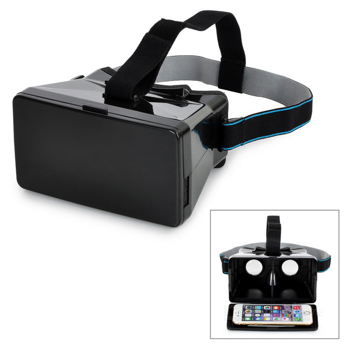 "TERIOS Virtual Reality VR 3D Glasses for 3.5~5.6"" Phones - Black"