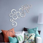 Fashion Circular Wall Sticker Decal Poster DIY Room Art Home Decor - Silver