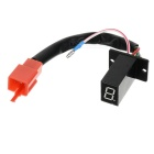 "DIY 1.1"" 1-Digit Red Light LED Digital Gear Display Indicator for Motorcycle - Black + Red"
