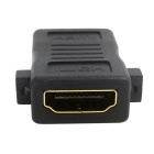 CY HDMI to HDMI 1.4 F-F Extension Adapter w/ Panel Mount Holes - Black