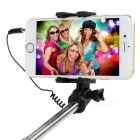 Mini Selfie Monopod w/ Adjustable Mount + 3.5mm Plug Cable - Blue