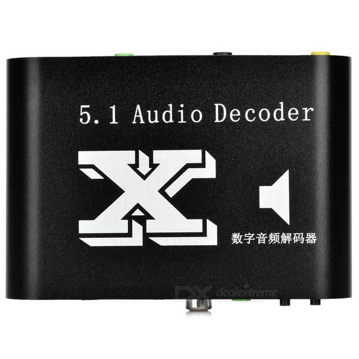 DTS / AC3 5.1-CH Dolby Fiber Coaxial to Digital Audio Decoder