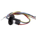 6-Wire 10A Per Circuit Electrical Slip Ring for Wind Power Generation System / Robot - Black