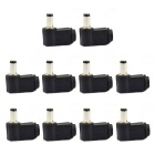 Jtron 5.5x2.5mm DC Power Supply Plug Connector - Black (10PCS)