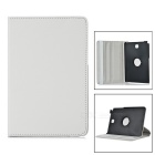 Embossed PU Leather Case w/ Stand for Samsung Tab A 8.0/T350 - White