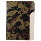 Camouflage Pattern Protective PU Case w/ Stand / Card & Money Slots for IPAD AIR 2 - Multicolor
