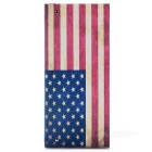 DIY Handmade USA Flag Style Long Cotton Wallet - Red + Blue + Multi-Color