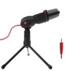 3.5mm Plug Microphone w/ Stand for Computer / KTV - Black