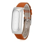 Xiaomi Genuine Leather Replacement Wrist Band for Xiaomi Smart Bracelet - Brown + Silver