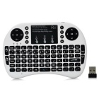 Rii RT-MWK08+  Mini 2.4G Wireless 92-Key Keyboard w/ Touchpad & Backlight & USB Receiver - White