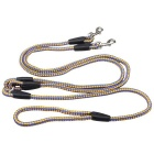 1-to-2 Durable Nylon Training Traction Rope Leash for Pet Dog - Yellow + Blue (130cm)
