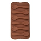 Spoon Style 6-Cup DIY Silicone Chocolate / Cake / Soap Mold - Chocolate