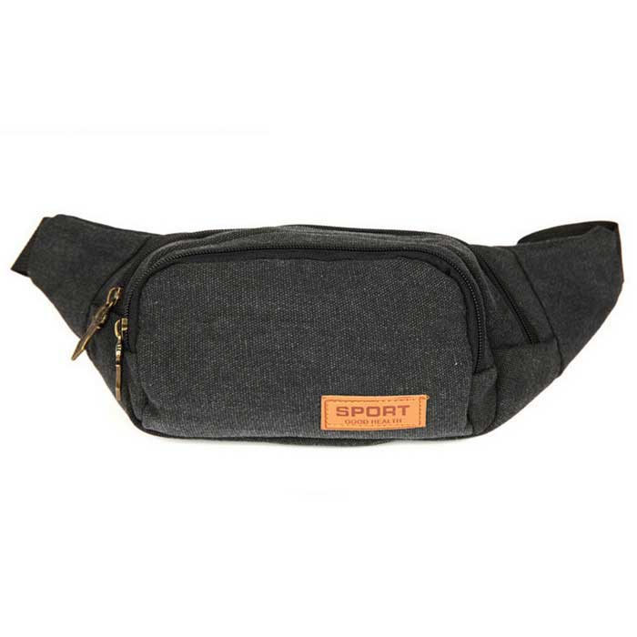 AKR Outdoor Sports Mountaineering Polyester Waist Bag - Black (1L)