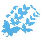 3D DIY Butterfies Style Mirror Art Acrylic Wall Sticker Set Home Decal - Silver