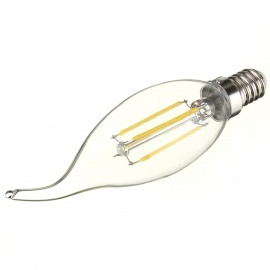 E14 4W LED Candle Tail Filament Lamp Cold White 320lm - Transparent