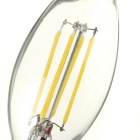 E14 4W LED Candle Tail Filament Lamp Cool White 320lm - Transparent