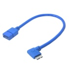 CY U3-251-RI OTG USB 3.0 A Type Female to Micro B Male 90 Degree Cable for Galaxy Note 3 & S5 (20cm)