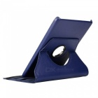 360 ° Rotary PU corpo completo w / Stand para Samsung T350 - Deep Blue