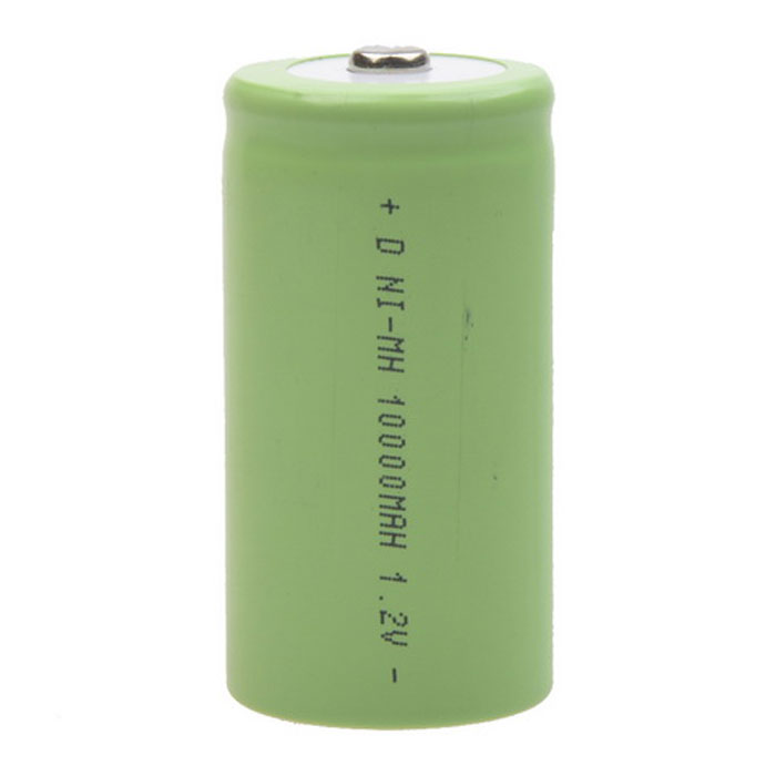 D Type Ni-MH Rechargeable 1.2V 8000mAh Battery - Green