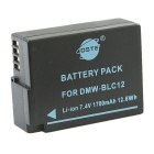 DSTE 7.4V/1700mAh DMW-BLC12 Battery + DC114 US Plug Charger for Panasonic GH2GK DMC-GH2 G6 Camera