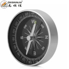 ZHISHUNJIA Outdoor Portable Analog Compass - Black + Silver