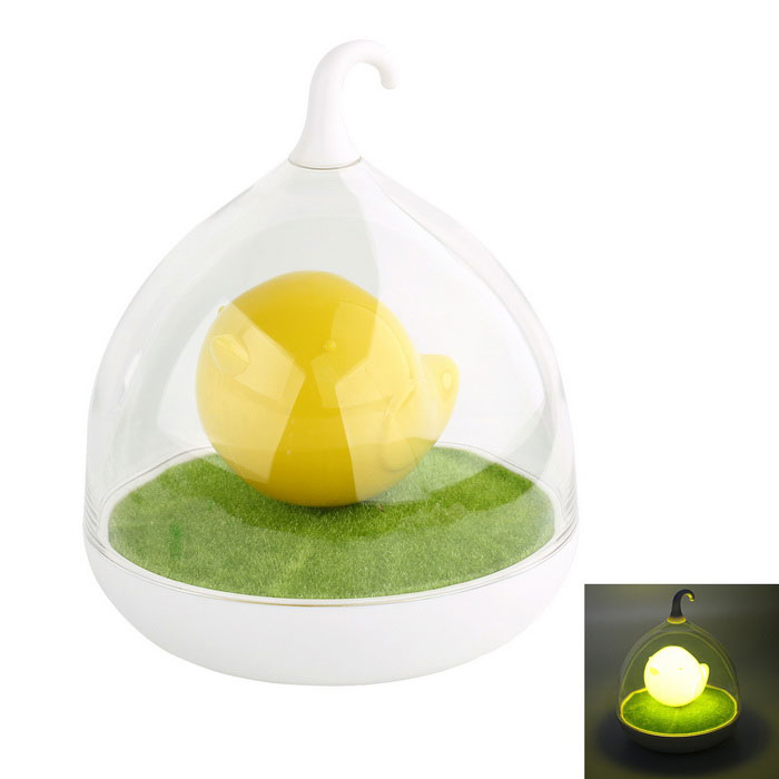0.8W Birdcage Touch Dimmable LED Nightlight Yellow Light - White