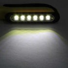 7-LED 160lm 2-Mode Cold White Work Lamp Flashlight - Black + Yellow