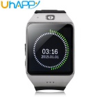 "UHAPPY UW1 1.55"" Waterproof Touch Screen GSM Watch Phone w/ NFC, FM, Bluetooth - Black + Silver"