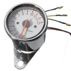DIY Motorcycle Pointer Type LED Digital Electronic Tachometer - Silver