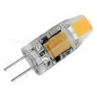 G4 1W LED Lamp Cold White 110lm - White + Transparent (12V)