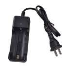 RichFire US-SC7 US Plug Battery Charger for 18650 / 26650 / 32650 Li-ion Battery - Black