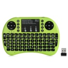 Rii RT-MWK08+ Mini 2.4G Wireless 92-Key Keyboard w/ Touchpad & Backlight & USB Receiver - Green