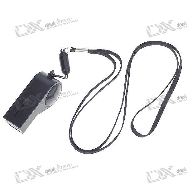 Whistle Style USB 2.0 Flash/Jump Drive - Black (4GB)