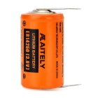 AITELY Non-rechargeable 3.6V ER14250-T Li-ion Battery w/ Soldering Pin - Orange + Black