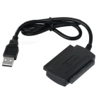 "USB 2.0 to SATA 2.0 / IDE Adapter Cable for 2.5"" / 3.5"" SATA HDD - Black (50cm)"