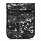 """Protective Camouflage Cloth Sleeve Bag Case for 7"""" Tablets - Black + Grey"""