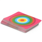Colorful Poker Paper Cards Magic Props - Black + Deep Pink + Multi-Colored