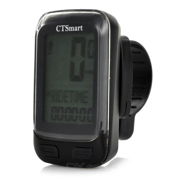"CTSmart 22-Functional 1.7"" Screen Bike Computer w/ Stop Watch - Black"