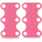 Magnetic Shoe Lace Buckles - Pink (L)