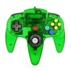 ABS Wired Game Console Controller for N64 - Translucent Green + Multicolor