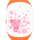 Cute Smart Wrist Watch w/ GPS Positioning / SOS / Pedometer for Kids - Orange + White