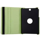 360° Rotary PU Full Body Case w/ Stand for Samsung T550 - Green