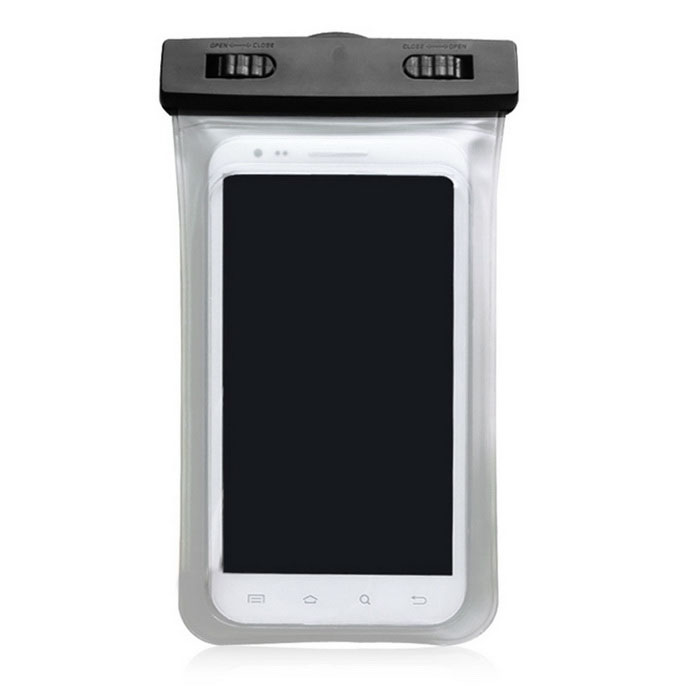 Universal Waterproof Anti-Shock Anti-Slip PVC Case for Phones - Black