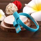 TPE Wristband Bracelet Data Cable for Samsung, HTC & More - Blue