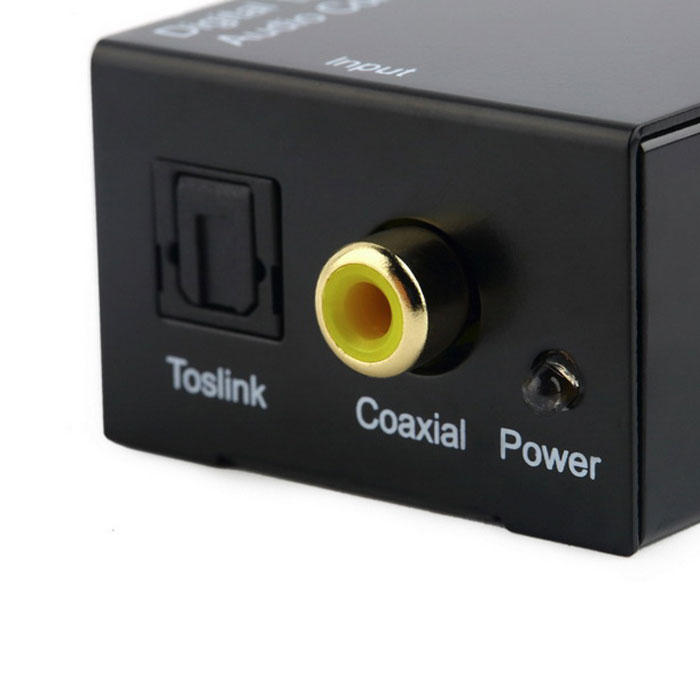 ... Digital Coaxial Toslink Signal to Analog Audio Converter Adapter Black ...
