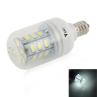 WaLangTing E12 4W LED Dimmable Corn Lampe kühles Weiß 240lm 6500K 24-5730 SMD - Weiß (AC 220 ~ 240V)