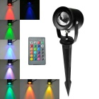 JIAWEN Waterproof 10W LED Insert Lawn Lamp Colorful Light 800lm - Black (AC 85~265V)